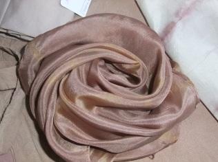 photo 1-carré de soie raisin fougère