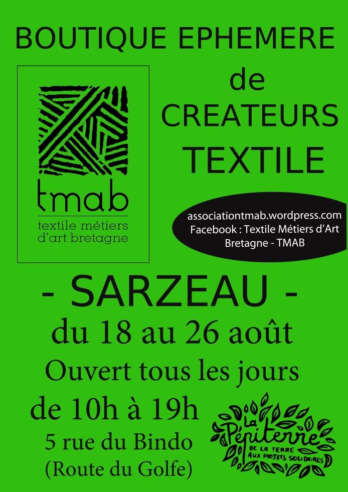 Affiche boutique éphémère Sarzeau